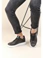 Oksit Crn 1850 Kalın Taban Erkek Sneaker Siyah